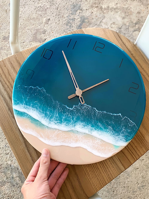 Resin Clock | Ocean-series | Submerged Numbers 2