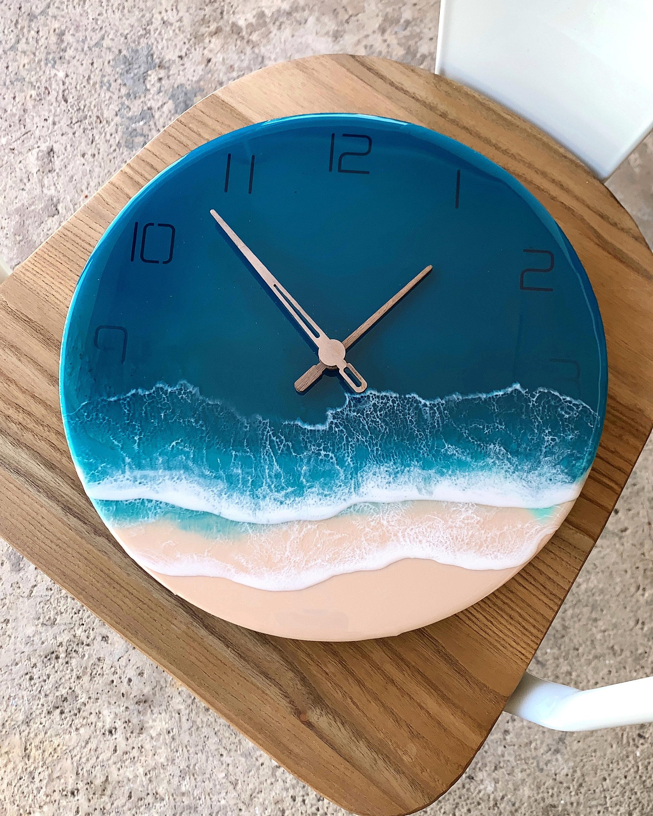 Ocean of Sparkles Resin Dorm Clock