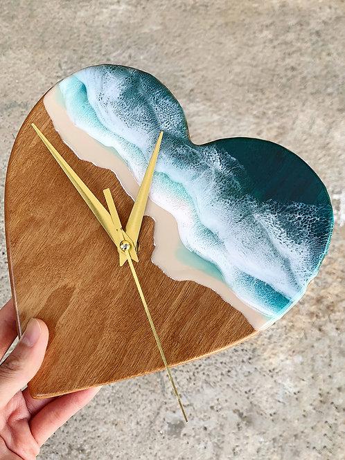 Resin Clock | Heart of the Ocean 2