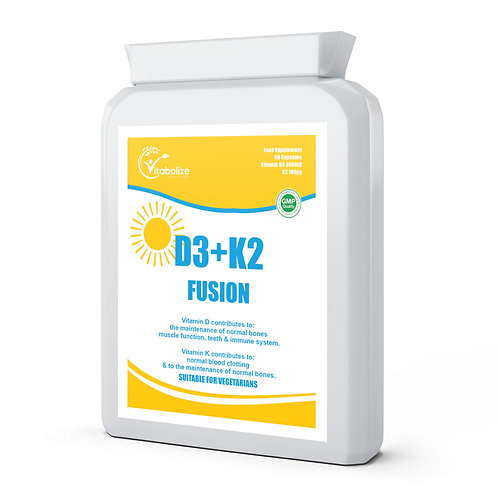 Vitamin D3 + K2 Vitamin D3 3000 IU and Vitamin K2 100ug MK7 90 Capsules