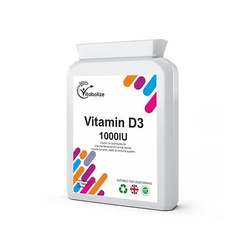 Vitamin D3 (1000iu) 180 Vegan Tablets
