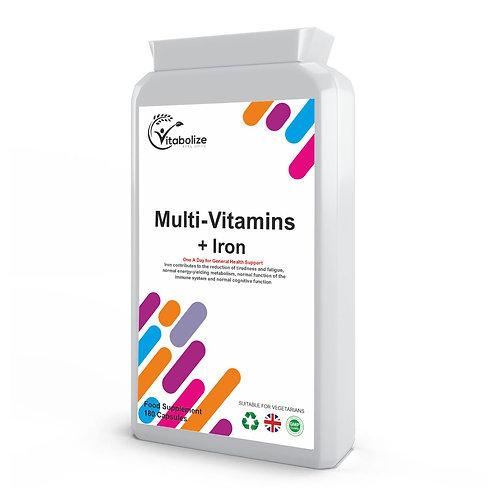 Multivitamin Plus Iron 180 Tablets