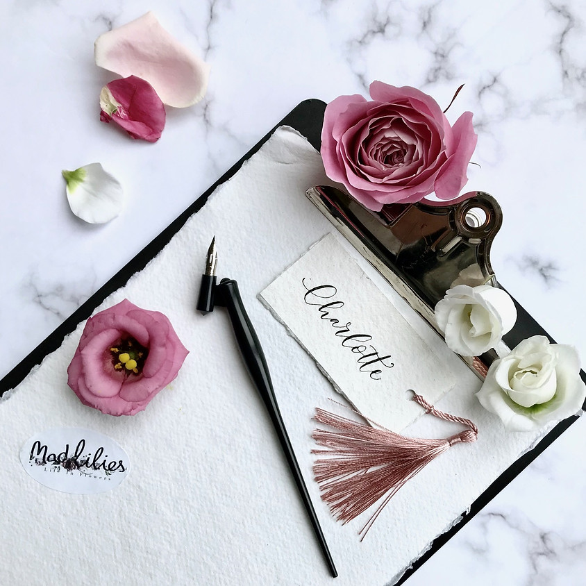 Modern Calligraphy Workshop for Beginners at Mad Lilies in Banstead