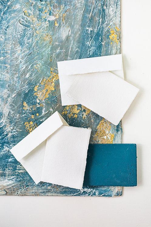 Homemade Khadi Papers | Blank Envelope & Card – Set of 10