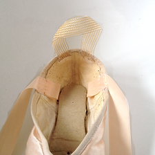 preparing pointe shoes for ballet class