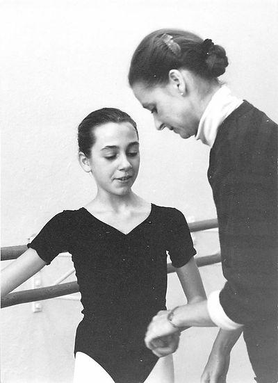 Franziska with her teacher Frau Iden.jpeg