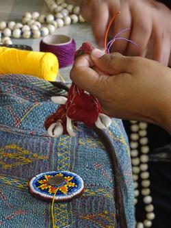 Shouba is making a Lambanis bag