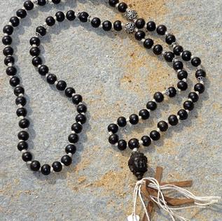 Black Buddha Mala