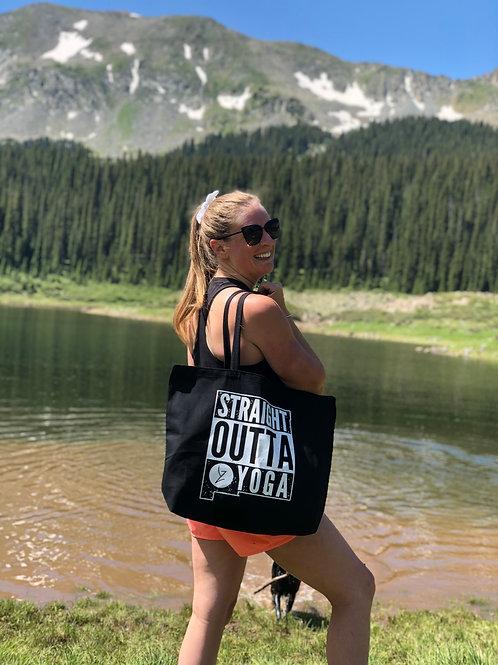 Straight Outta Yoga YZ Tote Bag