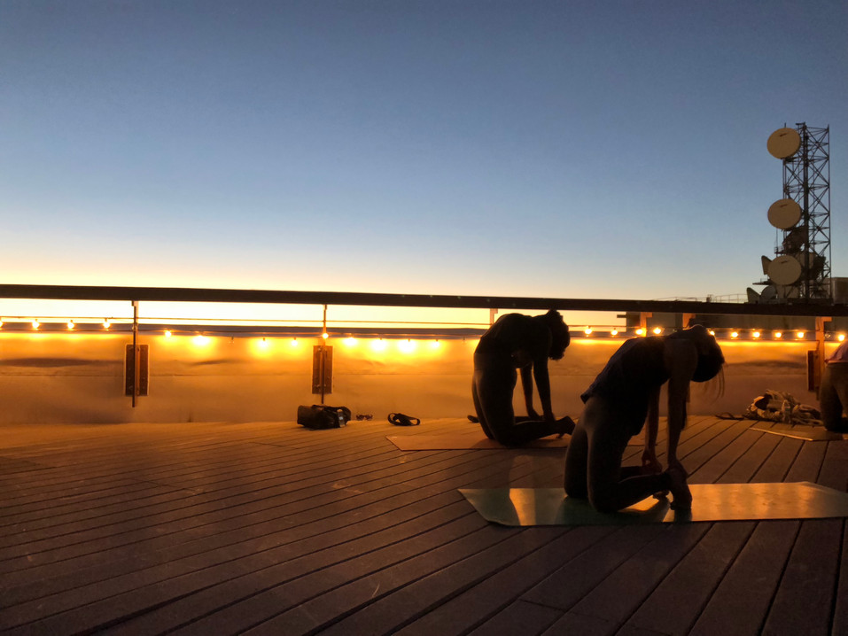 Sunset Rooftop Yoga by YogaZo