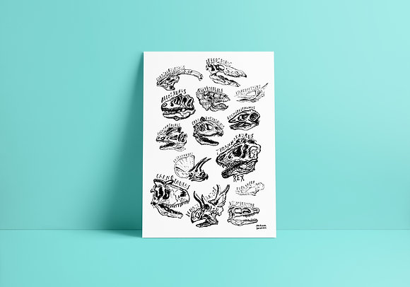Poster Dinossauros - A3