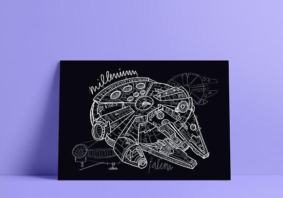 Poster Millenium Falcon // A3