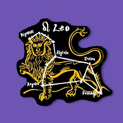 Adesivo Holográfico Leão