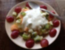 Fruit Breakfast at Camilla's on Utila