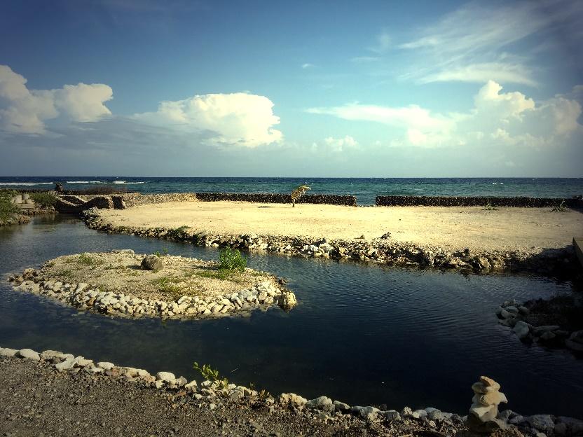 Lagoon and Caribbean