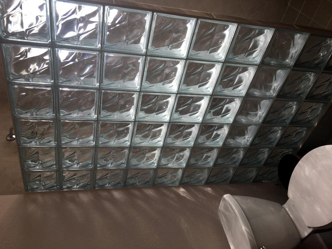 Custom Glass Block Shower2