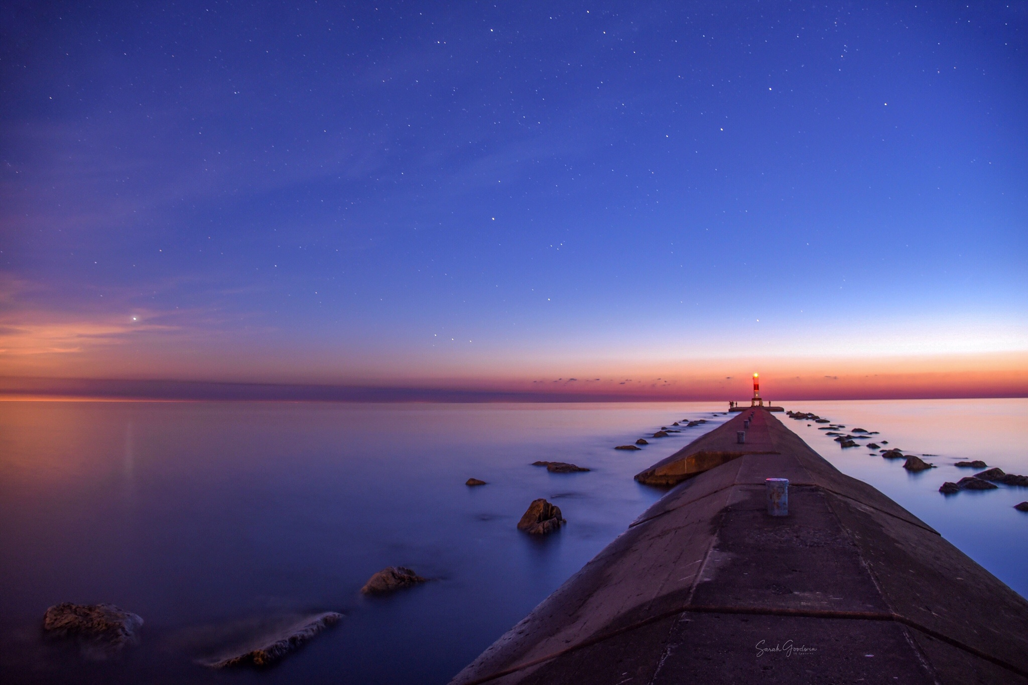 Twilight On A Michigan Pier
