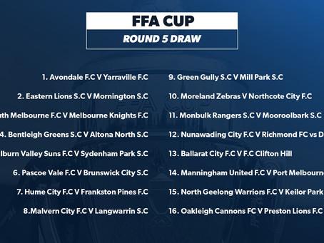 FFA Cup Round 5 fixtures in Victoria