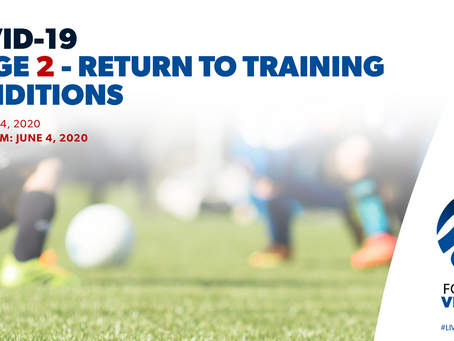 Updated Return to Training Conditions from June 4