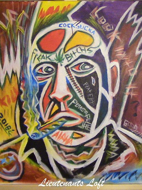 Abstract Joe Rogan Painting
