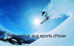 Préparation pour les sports d'hiver.