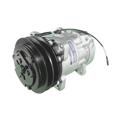 Compressor Sanden 7h15 2A 24v saída Hrz