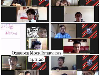 14-11-2020: Oxbridge Mock Interviews
