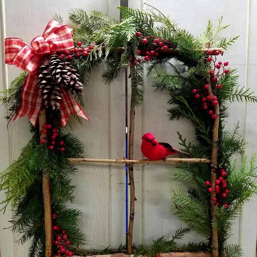 Birch Twig Window Frame