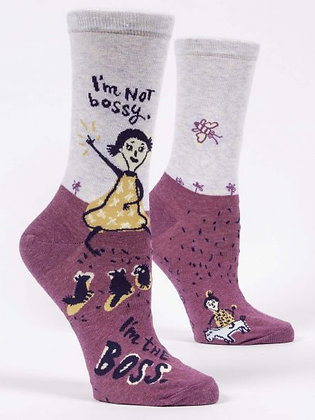 Im Not Bossy Crew Socks