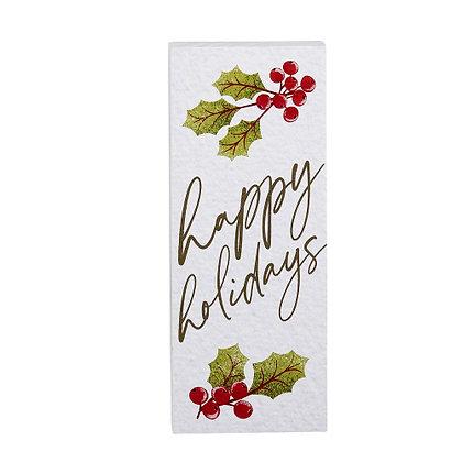 Happy Holidays Vertical Block