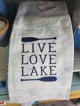 Live, Love, Lake Tea Towel