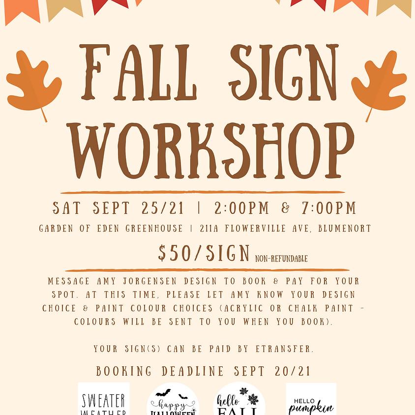 Fall Sign Workshop