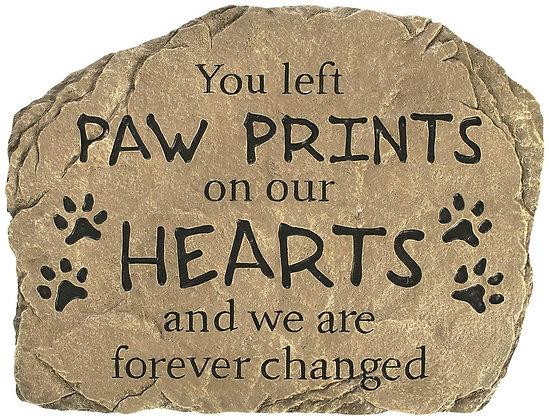 Paw Prints Stepping Stone