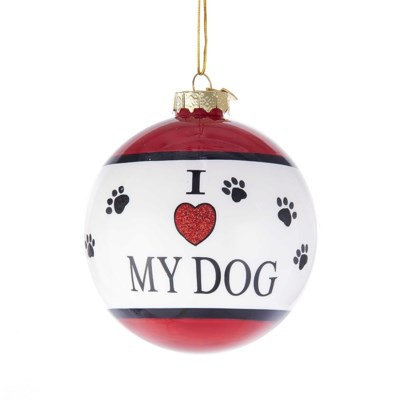 "80mm ""I love my dog"" Glass Ball"