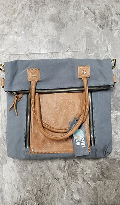 Fold Over Convertible Tote - Ash
