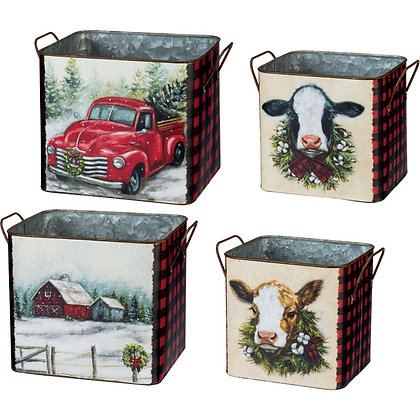 Christmas Farm Bins