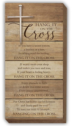 Hang it on the Cross Wall Plaque