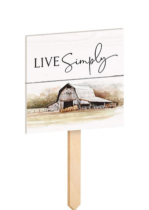 Live Simply Garden Sign