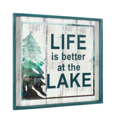Life is better at the Lake Wall Art