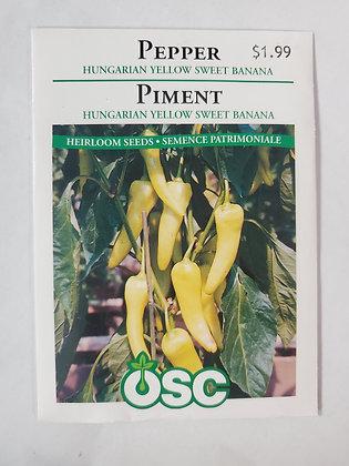 Pepper - Hungarian Yellow Sweet Banana