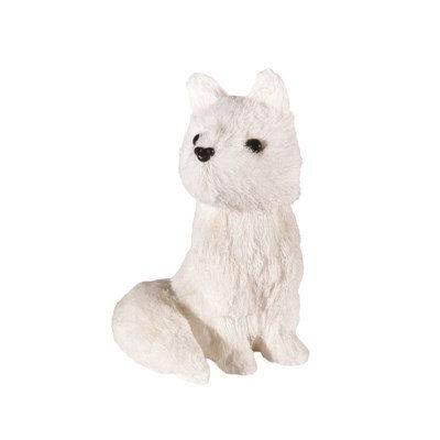 White Snowy Fox Ornament