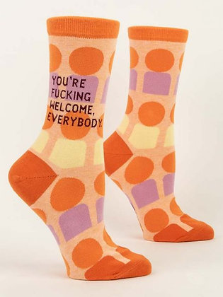 You're Welcome Crew Socks