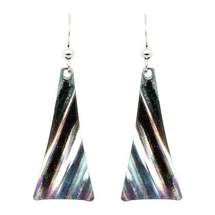 Deep Reflection Taper Earrings
