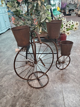 Rusty Metal Bike Planter