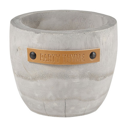 Party Thyme Wood Planter