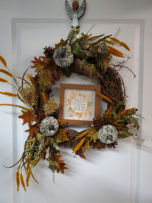Fall is in the Air Grapevine Wreath