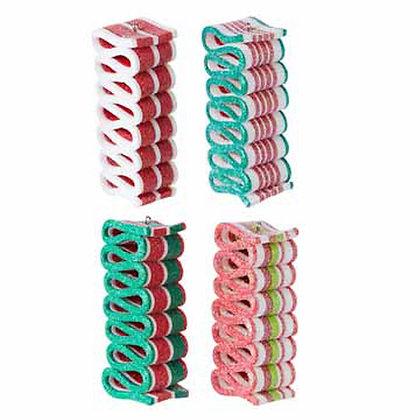 """4"""" Multicolored Ribbon Candy Ornament"""