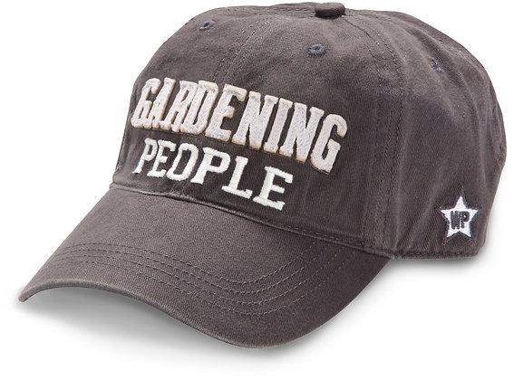 Gardening People Dark Gray Adjustable Hat