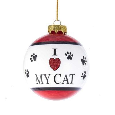 "80mm ""I love my cat"" Glass Ball"