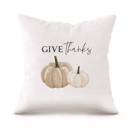 """Give Thanks 18"""" Decorative Pillow"""